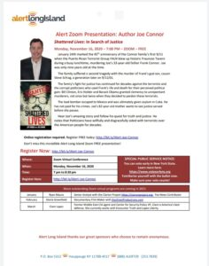 ZOOM presentation to Alarm Long Island, 7:00 pm ET, November 16, 2020